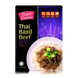 Rapid Cuisine Thai Basil Beef Served with White Rice - FOB:US$25.30 - MOQ:100