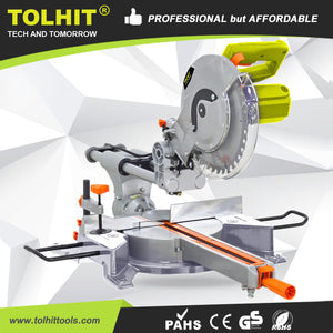 Tolhit 1800w Aluminium/wood Cutting Electric Power 255mm Sliding Miter Saw - Buy 255mm Sliding Miter Saw,Industrial Miter Saw,230v Miter Saw Product on Alibaba.com
