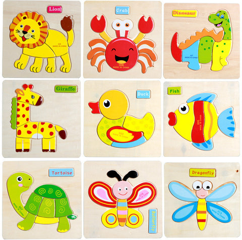 Three-dimensional Colorful Wooden Puzzle Educational Toys Developmental - FOB:US$ - MOQ: