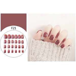 False Tips Artificial Fake Nails For Adults 24 Pcs/box - FOB:US$ - MOQ: