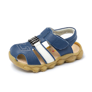 Genuine Leather Child Sandals for Boys - FOB:US$ - MOQ: