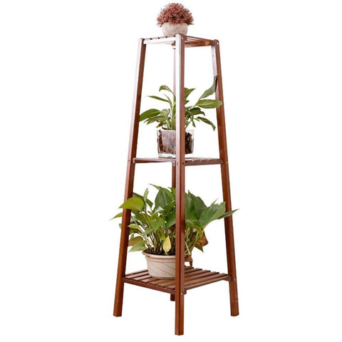 Tower Shaped Multifunctional Bamboio Flower Plant Pots Stand - FOB:US$ - MOQ: