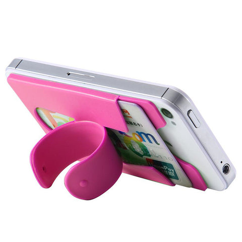 2-in-1 Silicone Adhesive Pu Stick-on Phone Stand - FOB:US$0.44 - MOQ:1000