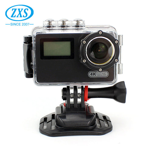 Ultra 4k Dual Screen Wifi Dv Bike Ski Helmet Camera 1080p Waterproof Sport Camera - FOB:US$ - MOQ: