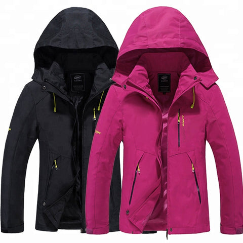 Waterproof Women's Softshell Jacket With Printed Bonded Fabric
