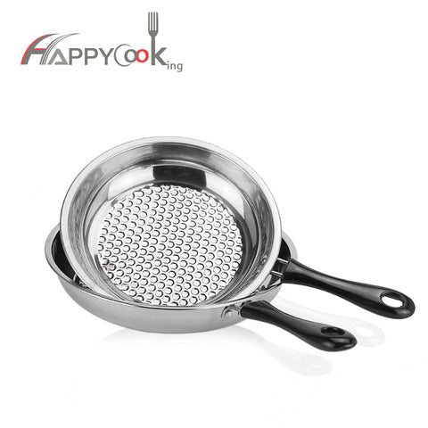 20/22/24/26cm Round Non-stick Stainless Steel Frying Pan - FOB:US$ - MOQ: