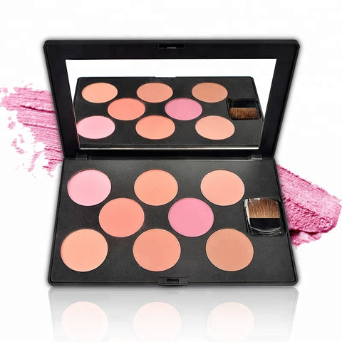Blusher Palette 8 Colors Private Label Blusher Palette With Blush - FOB:US$ - MOQ: