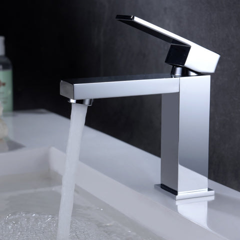 High Quality European Chrome Single Handle Mixer Tap Bathroom Basin Faucet - FOB:US$ - MOQ: