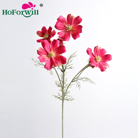 Artificial Flower Cosmos With 5 Heads Decoration - FOB:US$ - MOQ: