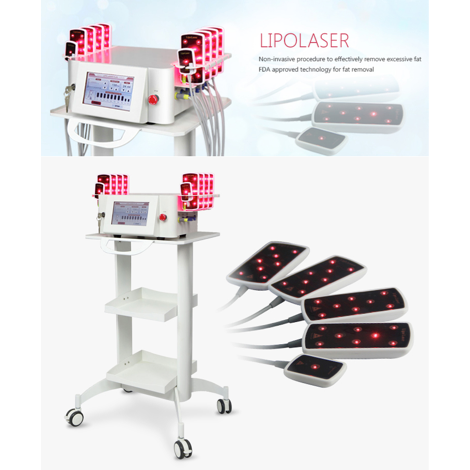 Diode Laser Lipolysis 650nm 940nm Laser Weight Loss Machine for Home - FOB:US$600-2,000 - MOQ:1