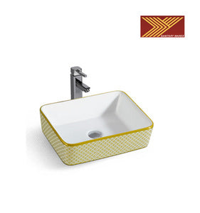 Ceramic Bathroom Sink with Tap Hole - FOB:US$28.00 - MOQ:50