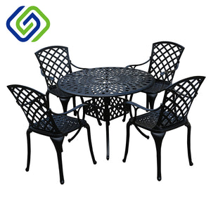 Metal Garden Dining Furniture Conservatory Patio Furniture - FOB:US$ - MOQ: