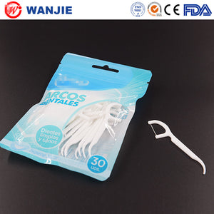 Plastic Tooth Floss Pick/kids Floss Picks/packaged Dental Floss Picks - FOB:US$ - MOQ: