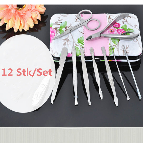 12pcs Stainless Steel Manicure Pedicure Set - FOB:US$8.34 - MOQ:100