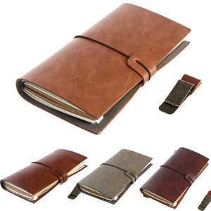 Retro Vintage Notebook Journal Diary Leather Pocket - FOB:US$13.24 - MOQ:50