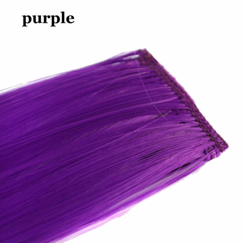 Beautiful Colorful 1PCS Synthetic Hair Extensions Women Hair - FOB:US$1.00 - MOQ:500