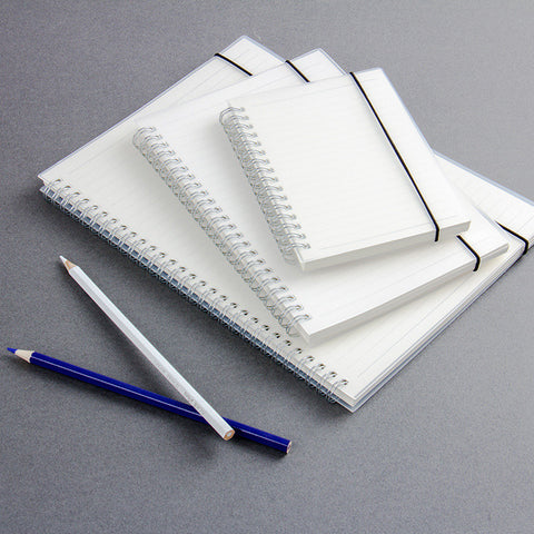 Matte Transparent, A6 Coil, Elastic with Horizontal Grid Notepad - FOB:US$4.37 - MOQ:100