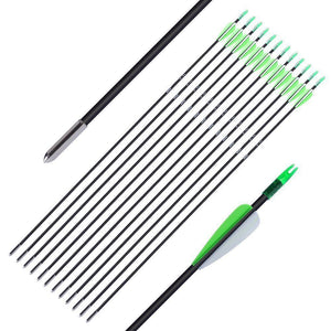 "Fiberglass arrow Archery 30"" for Recuve & Compound Bow 12pcs - FOB:US$17.50 - MOQ:50"