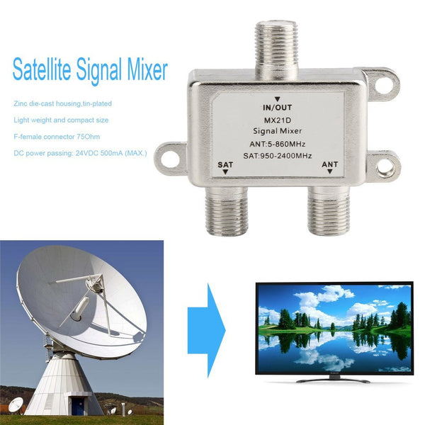 2 Ways Satellite Splitter TV Signal Cable TV - FOB:US$4.80 - MOQ:100