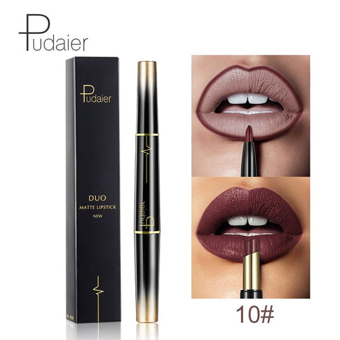 2 in 1-16 Color Double Lasting Matte Lipstick Waterproof - FOB:US$4.20 - MOQ:100