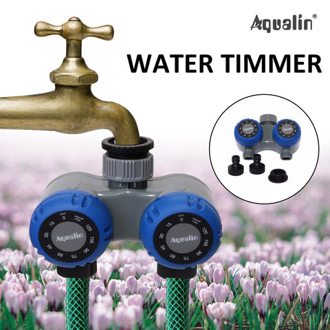 Two Outlets Mechanical Water Timer Irrigation - FOB:US$29.47 - MOQ:100