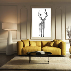 Fashion Nordic Simple Deer Oil Painting Ink Painting Picture - FOB:US$3.80-6.29 - MOQ:200