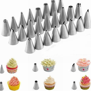 12pcs/set Cake Piping Nozzles Stainless Steel Pastry - FOB:US$5.50 - MOQ:200