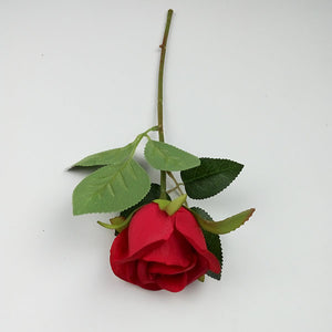 Single Stem Rose Short Stem Small Bud Artificial Flower Rose Flower - FOB:US$ - MOQ: