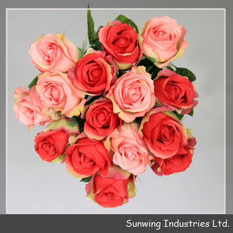 Weddings Decoration Fashion Red Artificial Rose Flowers - FOB:US$ - MOQ: