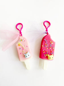 Popsicle charm with kitten