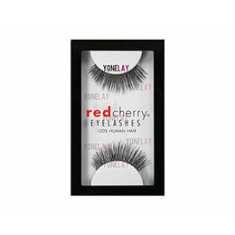 Natural eyelashes of red cherry-black THERESE