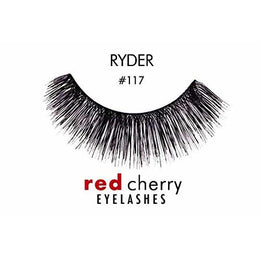 Natural eyelashes of red cherry-black RYDER