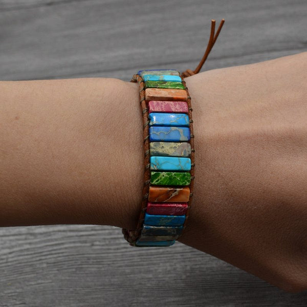 Bracelets unisexes color block