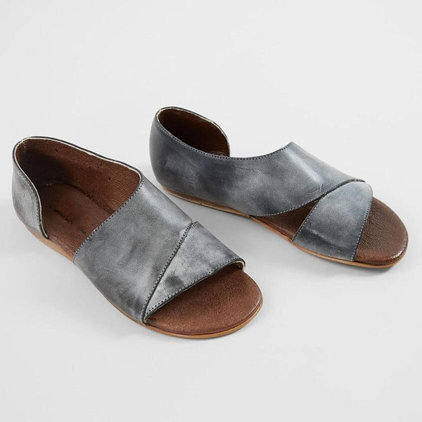 Slip-On Open Toe Flat con sandali vintage casual