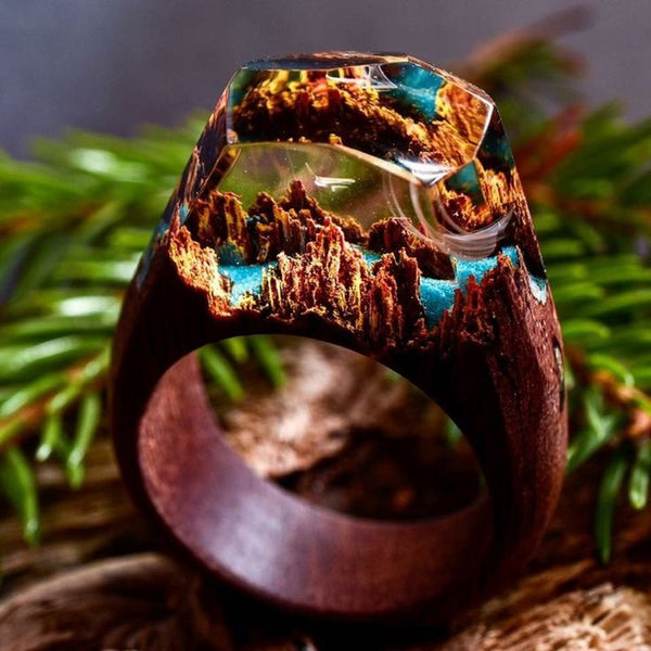 Handmade Vintage Wood Holiday Rings
