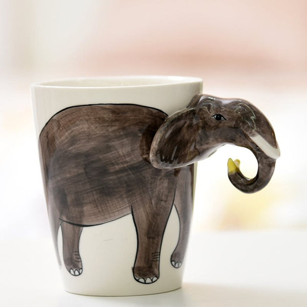 Lovely 3D Animal dipinta a mano caffè latte tazza tazza deco regali creativi