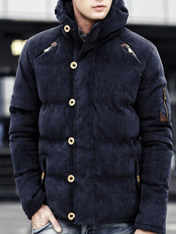 Plain Standard Zipper Casual Zipper Down Jacket