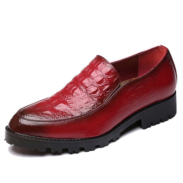 Round Toe Slip-On Professional da uomo Oxford
