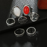 Alloy European E-Plating Birthday Rings Vintage Style Ring Set