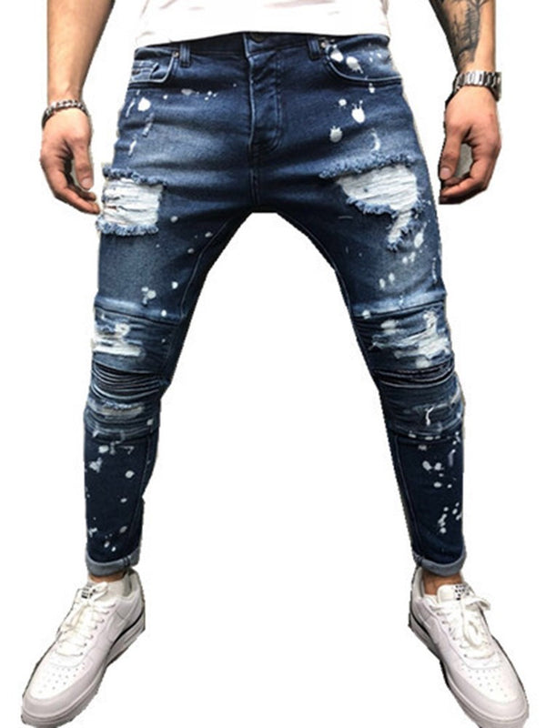 Hole Pencil Pants Fashion Mid Waist Jeans