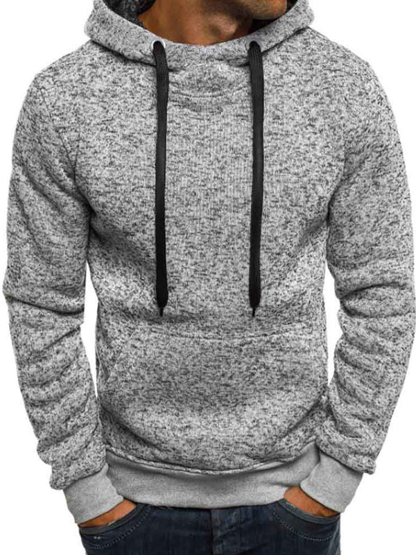 Simple Long Sleeve Loose Pullover Men's Sweatshirt