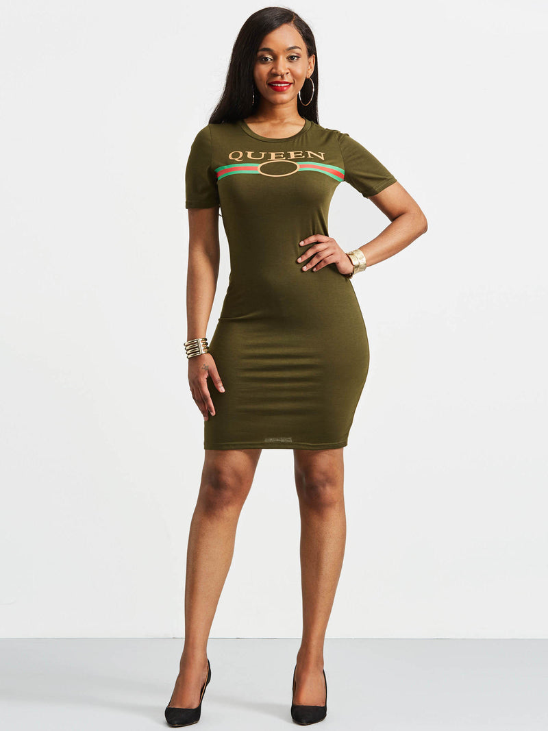 Women's Summer Short Sleeve Knee-Length Bodycon Dress