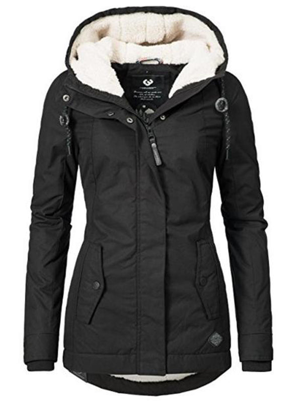 Manteau Warm Black Jacket mi-long pour femme