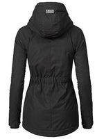 slim mid-length Women's Warm Black Jacket coat