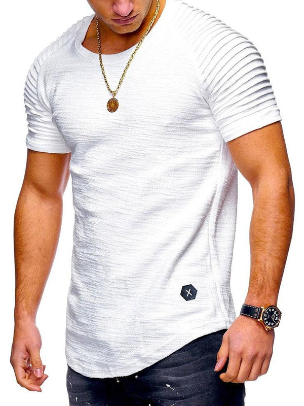 T-shirt da uomo a manica corta di colore solido best seller