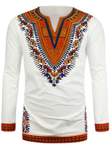 Dashiki Printed Long Sleeve Men's T-Shirt