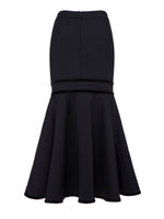 Black Mermaid Knee-Length Asymmetric Women's Skirt