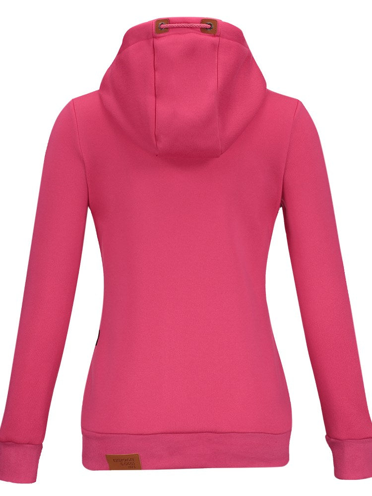 Felpa con Cappuccio Multi Colors Hooded Slim da donna