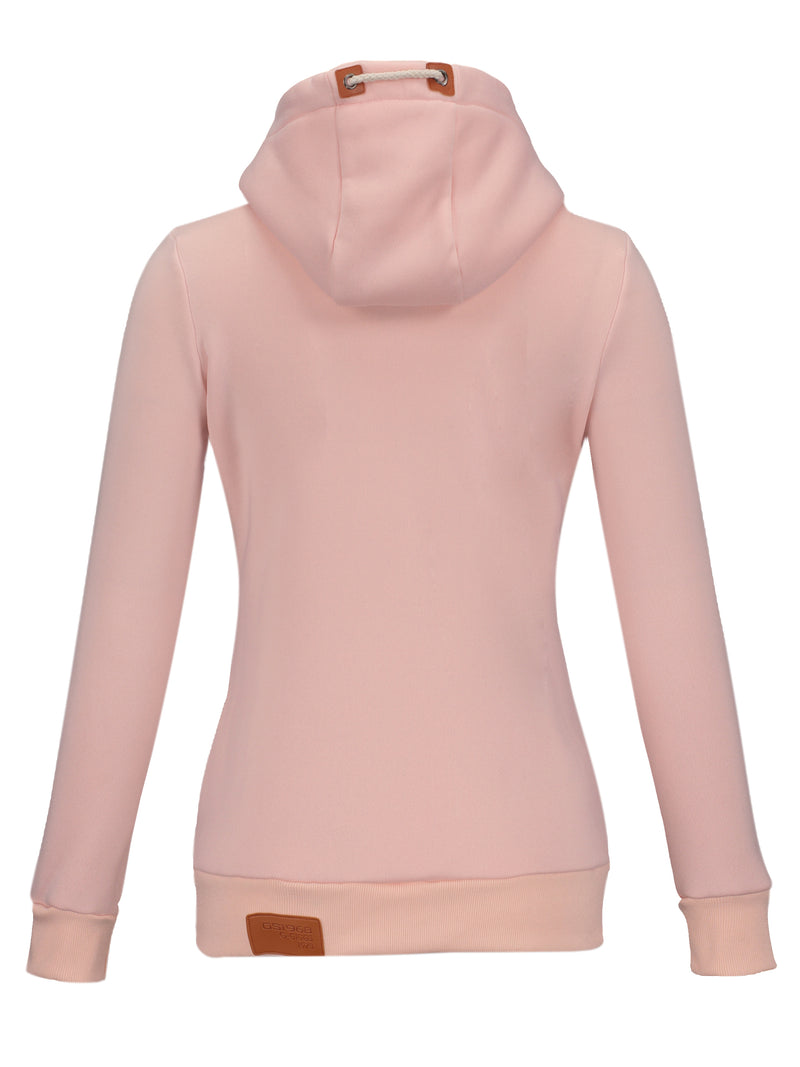 Multi Colors Hooded Slim Women's Fall Hoodie
