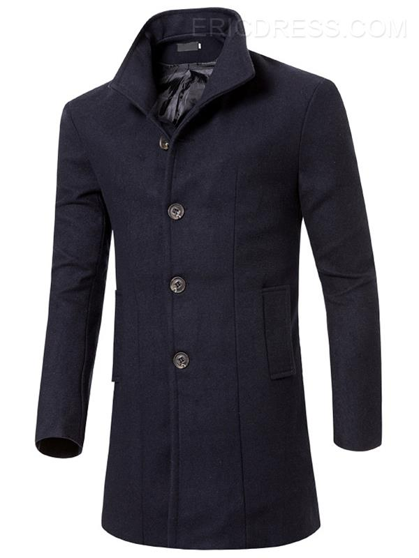 Trench Coat Slim Fit Slim Fit para hombre de color medio